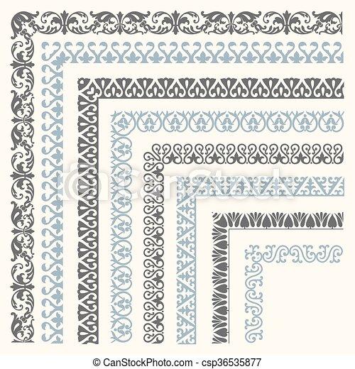 Decorative seamless border - csp36535877