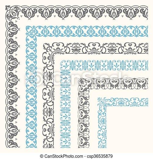 Decorative seamless border - csp36535879