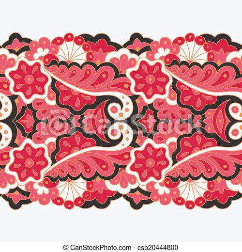 Decorative seamless border - csp20444800