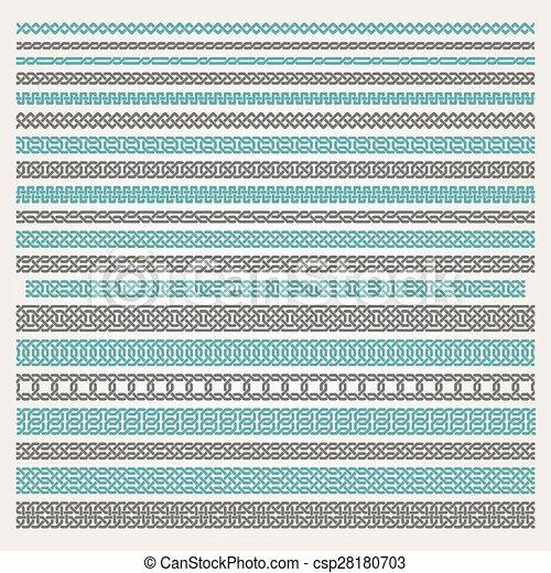 Decorative seamless border - csp28180703