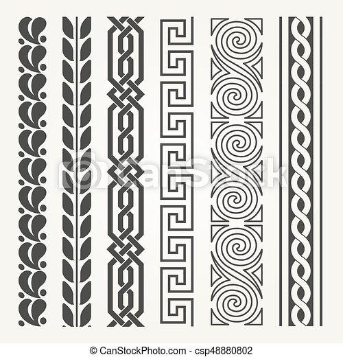 Decorative seamless border - csp48880802