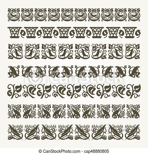 Decorative seamless border - csp48880805