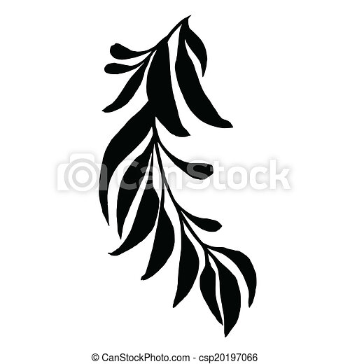 decorative silhouette branch with leaves vector artistic clip rh canstockphoto com decorative clip art borders decorative clip art for poems
