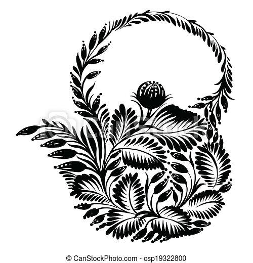 decorative silhouette teapot - csp19322800