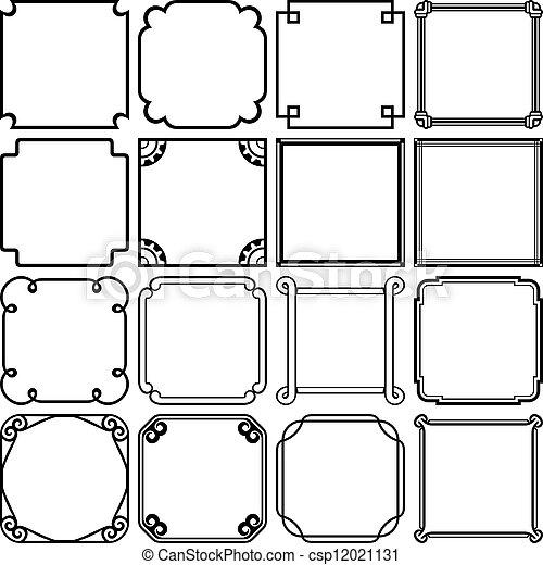 Decorative simple frames - csp12021131