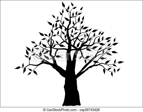Decorative Simple Tree Vector Illustration
