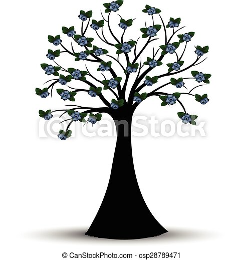 Good Decorative Spring Tree Silhouette   Csp28789471