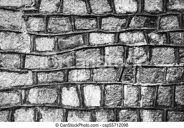 decorative stone wall texture - csp55712098