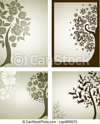 decorative tree from flowers. Thank - csp4800070