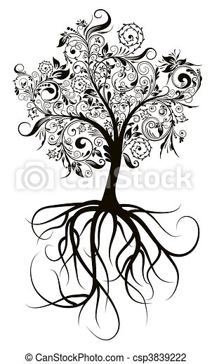 Decorative tree, vector illustration - csp3839222