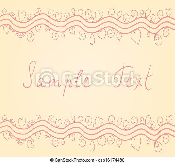 Decorative vector background - csp16174480