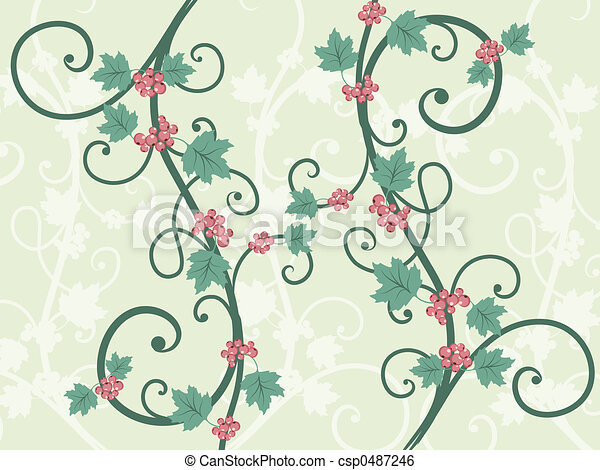 decorative vines hand drawn decorative vines with leaves and berries