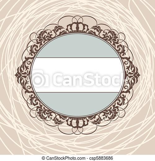 decorative vintage frame - csp5883686