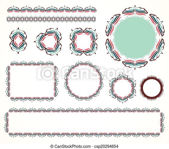 Decorative vintage frame - csp20294654