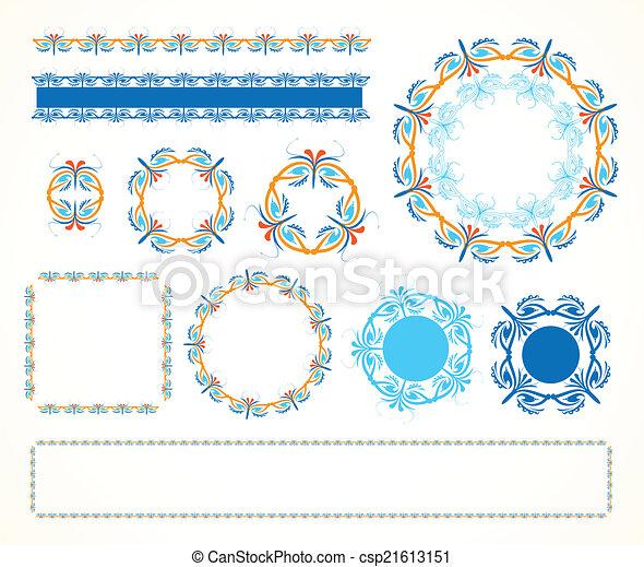Decorative vintage frame - csp21613151