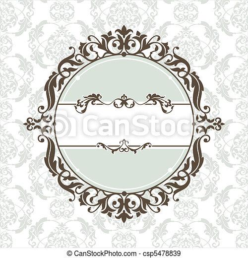 decorative vintage frame - csp5478839