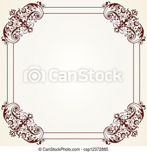 Decorative Vintage Frame - csp12372885