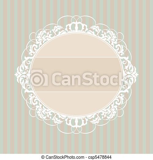 decorative vintage frame - csp5478844
