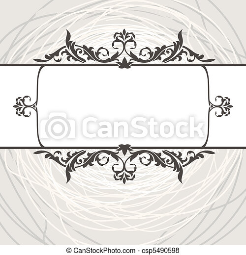 decorative vintage frame - csp5490598