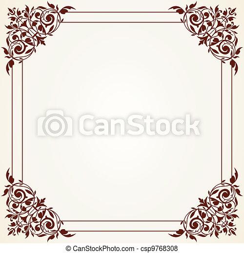 Decorative Vintage Frame - csp9768308