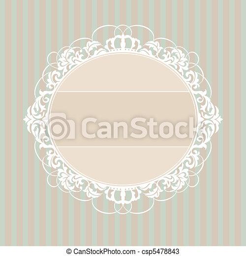 decorative vintage frame - csp5478843