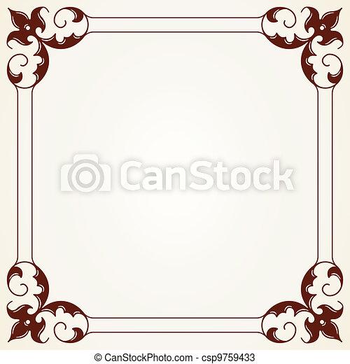 Decorative Vintage Frame - csp9759433