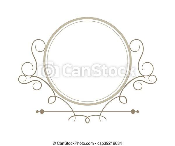Flat design decorative vintage frame icon vector illustration.