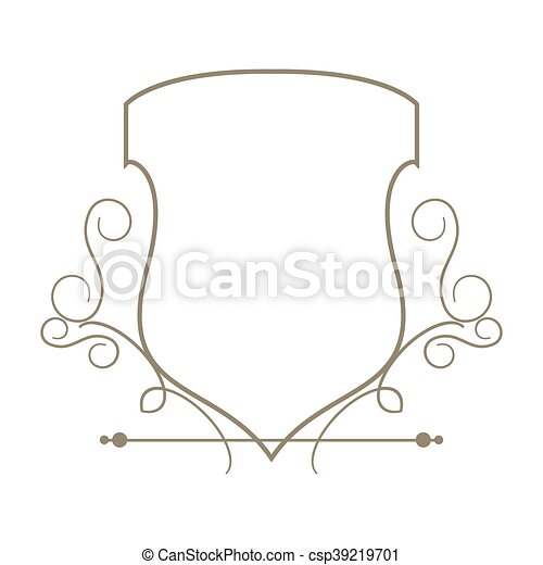 Flat design decorative vintage frame icon vector illustration.