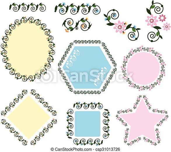 Decorative vintage frame . - csp31013726