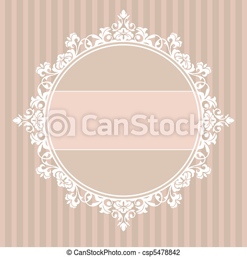decorative vintage frame - csp5478842