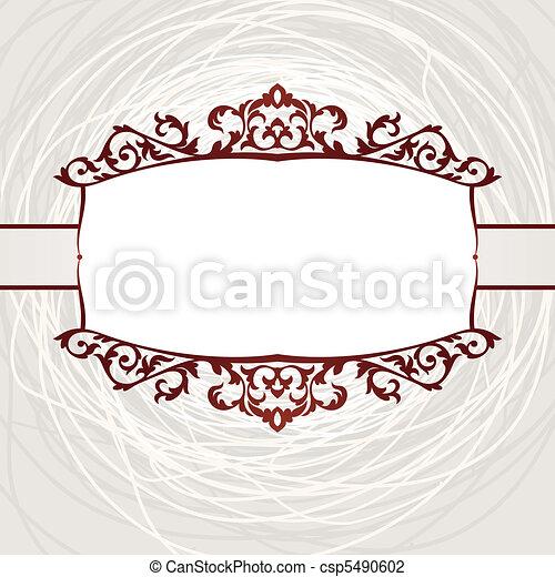 decorative vintage frame - csp5490602