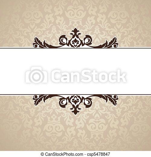decorative vintage frame - csp5478847