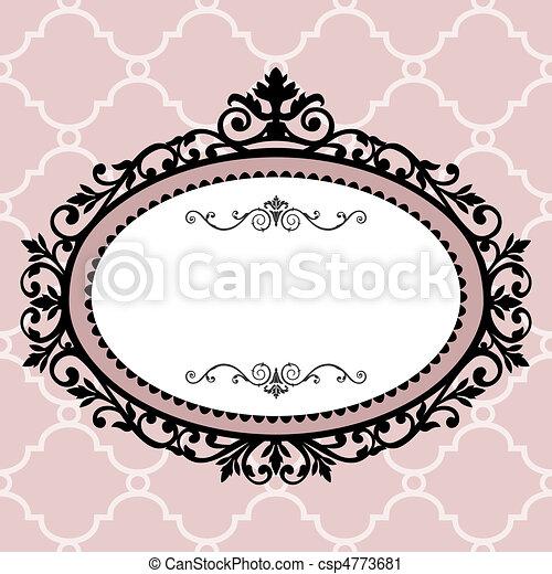 Decorative vintage frame - csp4773681