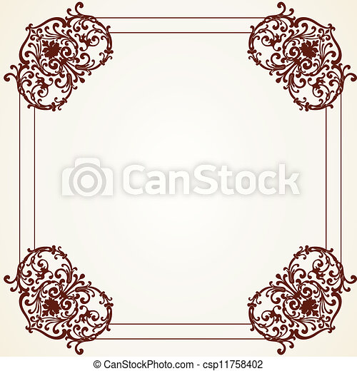 Decorative Vintage Frame - csp11758402