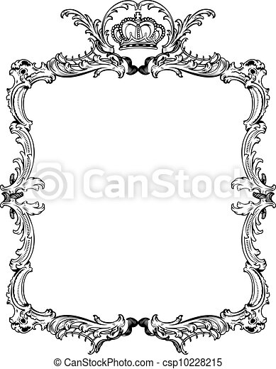Decorative Vintage Ornate Frame. Vector Illustration. - csp10228215