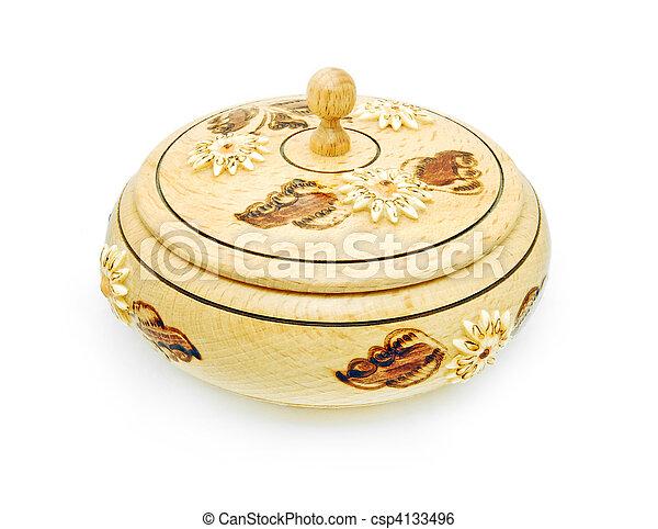 decorative wooden box - csp4133496