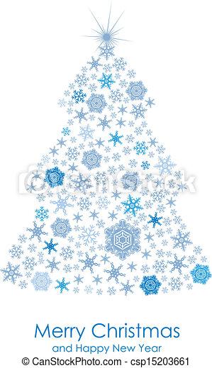 decorativo, árvore abeto, cartão - csp15203661