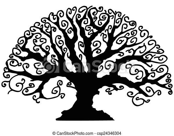 decorativo, árvore - csp24346304
