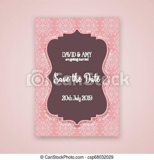 Decorativa salvar el diseño de la invitación fecha 0403 - csp68032029