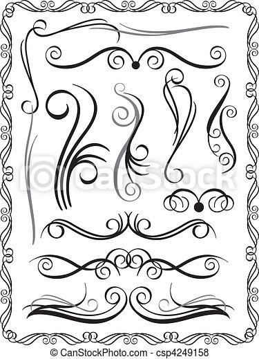 Fronteras decorativas establecidas - csp4249158