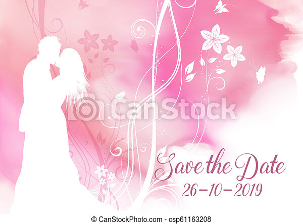 Watercolour guarda el diseño decorativo de invitaciones - csp61163208