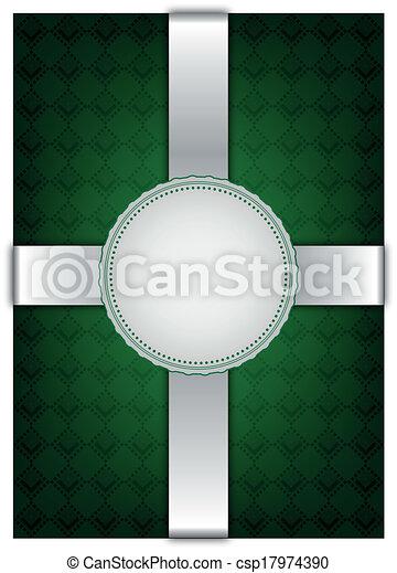Backgroun decorativo verde abstracto - csp17974390
