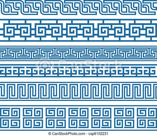 decorativo, classico, bordo, elemento - csp6102231