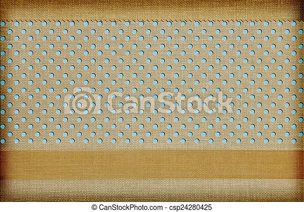 Fondo de tela decorativa. Scrapbook, concepto de álbum de fotos - csp24280425