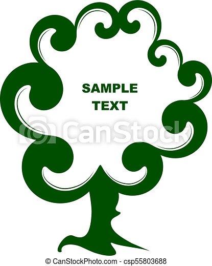 decorativo, cornice, albero - csp55803688