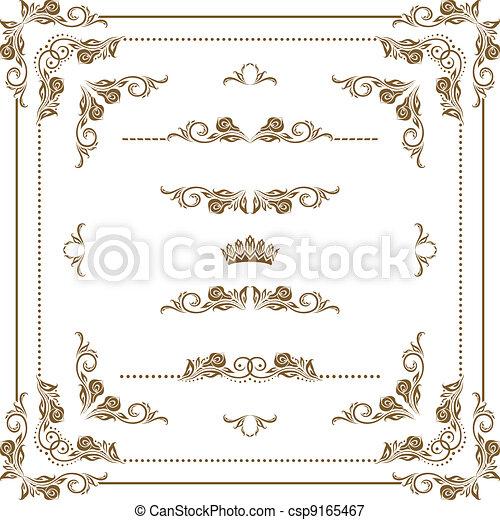 decorativo, cornice - csp9165467