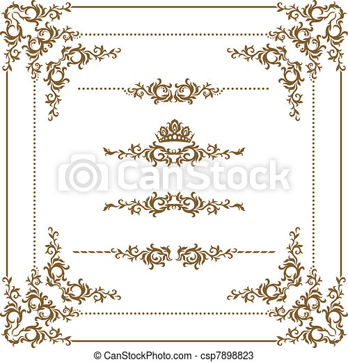 decorativo, cornice - csp7898823