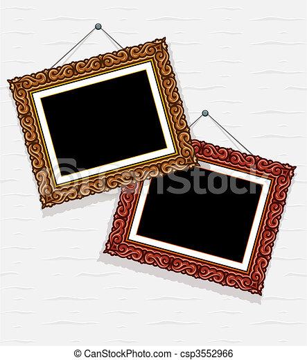 Decorativo, cuadro de pared, vacío, cuadros. Decorativo, pared ...