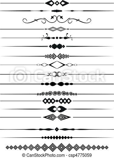 Divisores de páginas decorativas - csp4775059