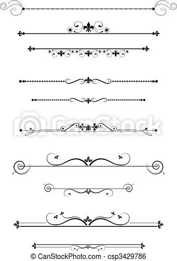 decorativo, divisores - csp3429786